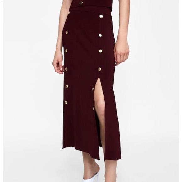c89263c3 Zara Skirts | Long Buttoned Skirt Nwt | Poshmark